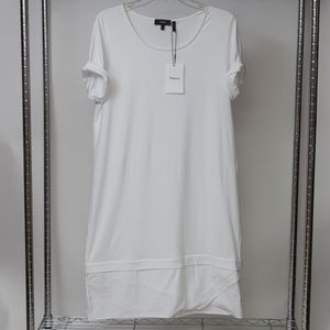 New Theory Long White Classic Tee